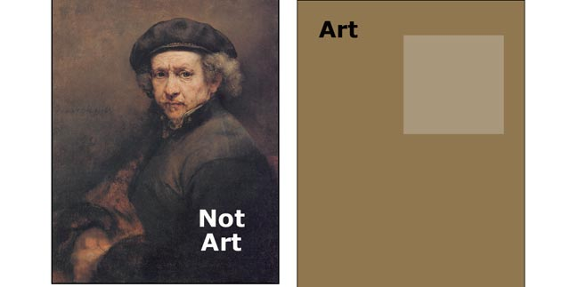 art and not art